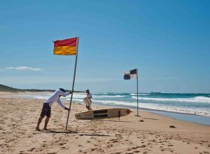 Life savers at Corrimal Beach. PHOTOS: Warren & Diana Ackary.