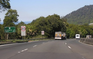 Trucks on Mt Ousley Road. PHOTO: (c) Sam Laybutt, Ozroads