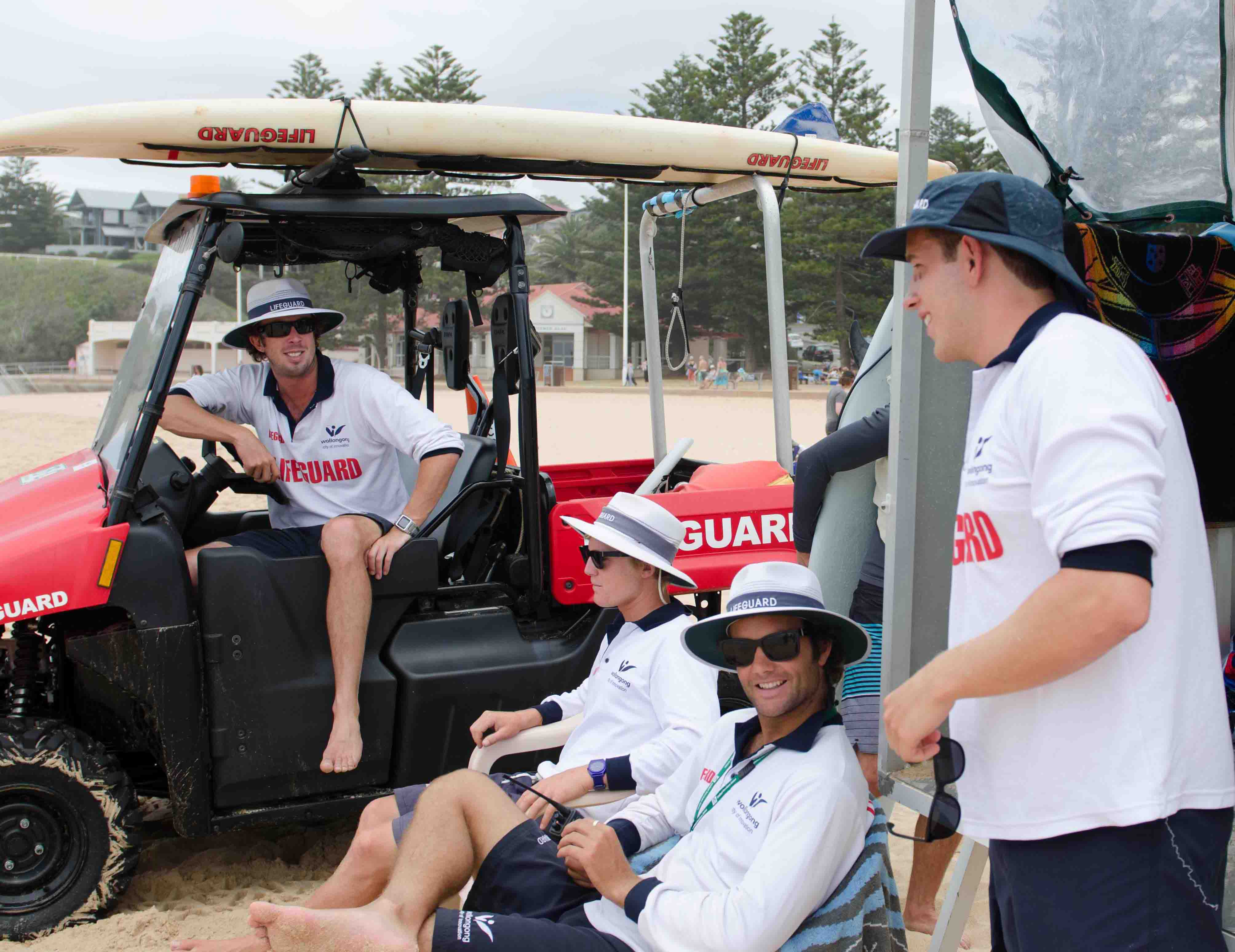 Canadian liuard helps out at Austi Beach | The Bulli Times on golf cart shopping, golf cart surfing, golf cart batman, golf cart paint ideas, golf cart fishing, golf cart driver,