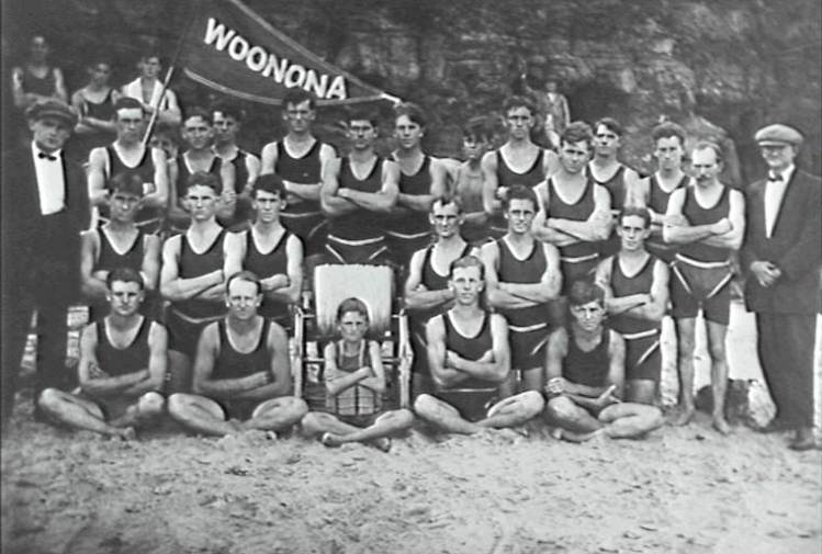 Woonona Surf Club members early last century.