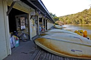 A quaint boatshed on Audley Rd, inside the Royal National Park. PHOTO: About NSW.