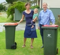 Residents are encouraged to reduce their bin size. PHOTO: Wollongong City Cou ncil.