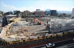 The Wollongong Central development site.