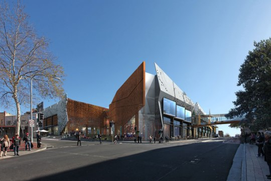 Artist impression of the new expanded Crown Central at the corner of Crown and Keira Streets Wollongong.
