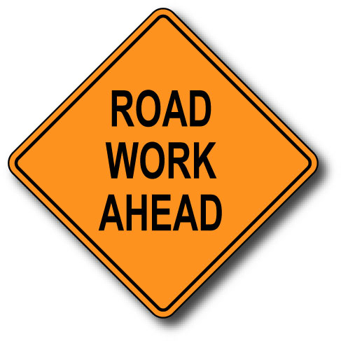 Image result for road works sign