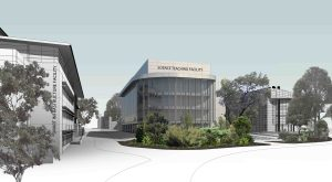 An artist impression of the new $33m 'airspace' facility at Wollongong University.
