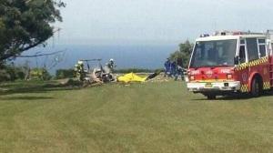 The crash scene at Bulli Tops