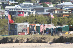 The Sandon Point Aboriginal Tent Embassy at Sandon Point Bulli. PHOTO: Green Left.