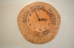 The clock made from the Norfolk Island Pine.