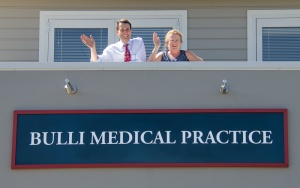 Dr Jeffrey Hall and Dr Julie Blaze at the revamped medical centre. PHOTO: Warren & Diana Ackary.
