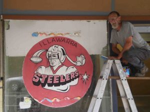 While renovating the former Bulli Newsgagent building, the new owners found a peice of Illawarra sporting history.