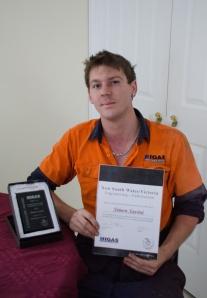 Simon Savini with his certificate. PHOTOS: Warren & Diana Ackary.
