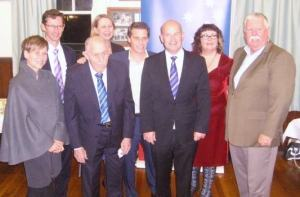 Laurie Kelly, former Speaker of NSW Parliament and Member for Corrimal. Laurie's connection to the branch goes back to 1925 when his father was branch secretary. — with Jenny McAllister, Stephen Jones, Sharon Bird, Ryan Park, John Robertson, Ann Martin and David Campbell.