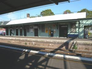 The 1887 Thirroul Railway Station building earmarked for demolition.