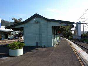 The heritage listed Thirroul Railway Station building under threat of demolition.