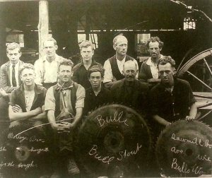 Employees of Molloy Timber Yard in the 1920s. Can anyone identify the men? Contact the Bulli Times.