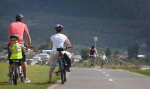 Cycling at Sandon Point