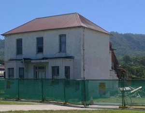 Down comes almost 130 years of Bulli's history. The RMS begins demolition of the former Ocean View Guest House.