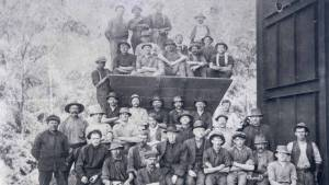 Coke workers at the Coalcliff plant in 1914.