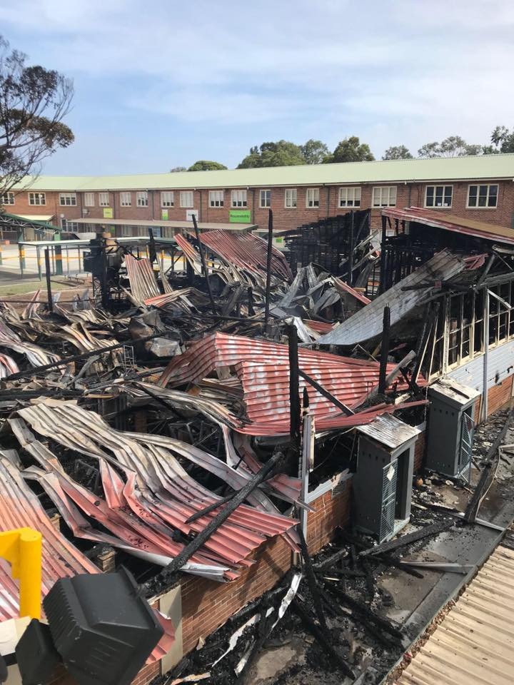 Corrimal High School fire 3