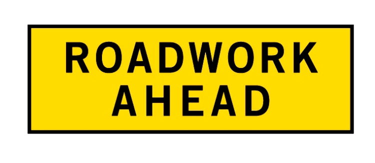 road works sign 1