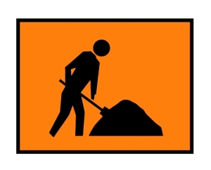 road works sign 2