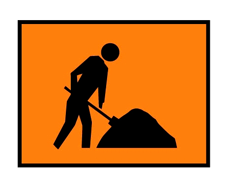 road works sign 2