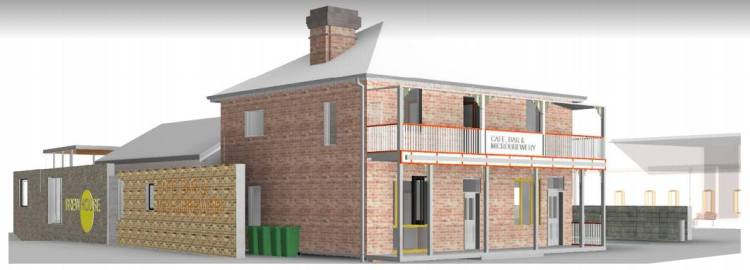 artist impression old railway guesthouse bulli