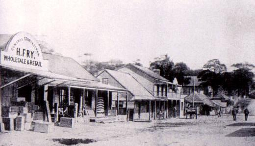Henry Fry's general store, Bulli. The shop was located about opposite Hobart Street on the Princes Highway.