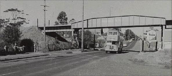 A Hills double decker, travelling north along the Princes Highway at Old Bulli