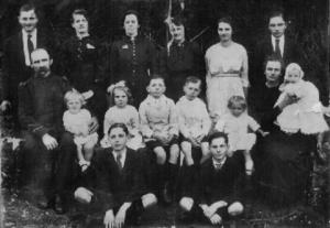 William Walker and his large family