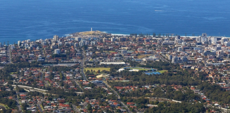 Wollongong City from escarpment