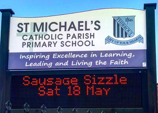 st Michaels Thirroul sign