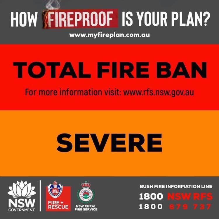 total fire ban severe
