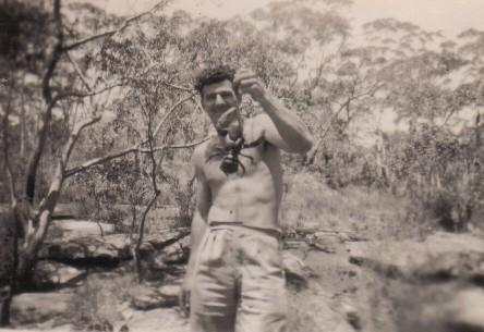 Jack Upton at The Cataract in the 1940s.
