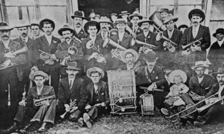 The Bulli Town Band early last century
