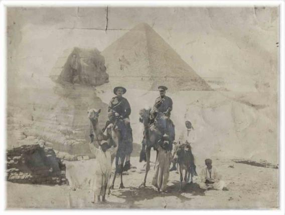 James Budden (left) in Egypt 1916 during the Great War