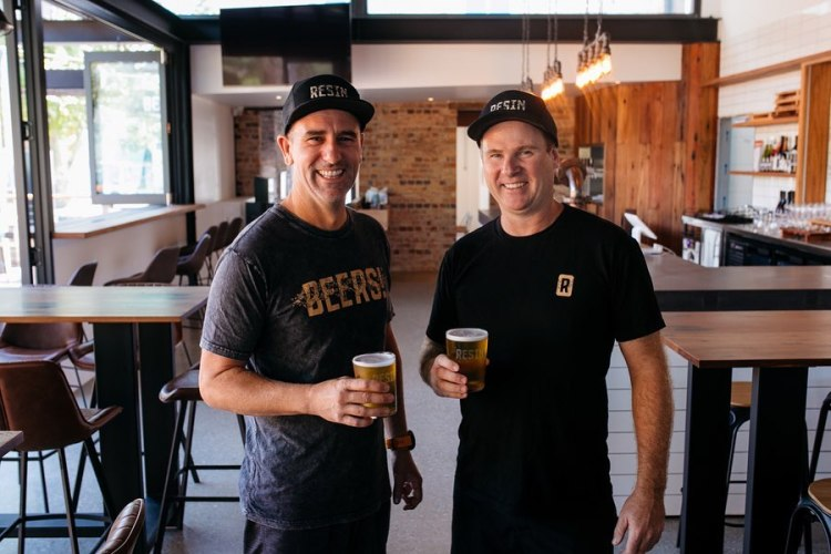Resin Brewery owners Brendan Dowd Steve House