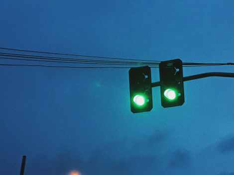One lane closed during traffic signal maintenance at Corrimalintersection